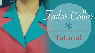 getlinkyoutube.com-Tailor collar / Notched collar - tutorial, patterns, cutting, stitching- Cloud Factory