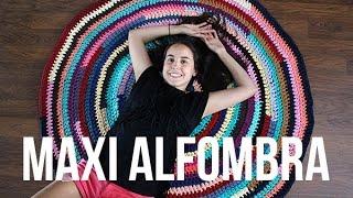 getlinkyoutube.com-Alfombra de trapillo redonda multicolor paso a paso