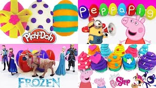 getlinkyoutube.com-1 HOUR Peppa Pig Surprise Eggs Compilation for Girls My Little Pony Play Doh Minions Egg