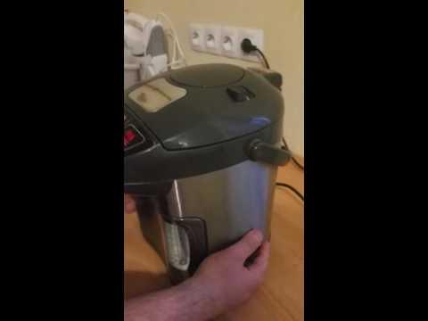 Как снять крышку с термопота Redmond RTP-M801