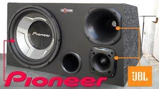Caixa Trio Pioneer 350w + Driver e Tweeter JBL Selenium