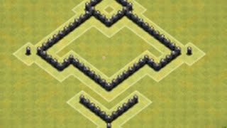 getlinkyoutube.com-EPIC+BEST Town Hall Level 4 Trophy Base for Clash of Clans