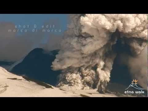 Pyroclastic Flow at SouthEast Crater - Etna - March 04, 2012 - Etna Walk