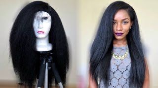 getlinkyoutube.com-Kinky Straight Hairstyle Under $20! TheBrilliantBeauty