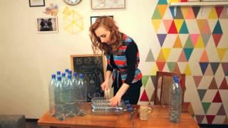 getlinkyoutube.com-Оксана Матяш. Пуф из пластиковых бутылок
