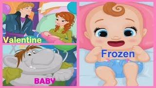 getlinkyoutube.com-Play Romantic Baby Movies | Frozen Anna's Valentine Baby Gameplay 2015 Videos-Newborn Games