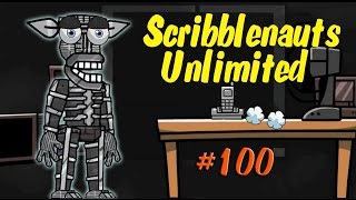 getlinkyoutube.com-Scribblenauts Unlimited 100 Five Nights at Freddy's 2 Endoskeleton in Object Editor