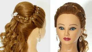 Wedding prom hairstyles for long hair.  Greek Goddess Hairstyle