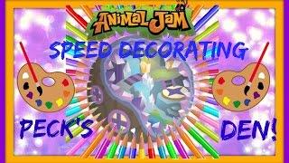 getlinkyoutube.com-Animal Jam: Speed Decorating Peck's Den!