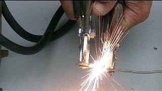 getlinkyoutube.com-Experimentos con Transformador  de Microondas modificado..Experiments with Microwave Transformer