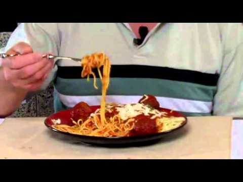 Inventor Bob Balow Demonstrates How To Use Spaghetti-Pasta-Noodle Fork