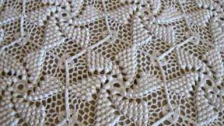 getlinkyoutube.com-Crocheted Popcorn Pinwheel Bed Spread by Frances Johnson