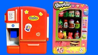getlinkyoutube.com-SHOPKINS So Cool Fridge ❤ Vending Machine Toy Storage Season2 Playset Shopping Baskets