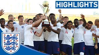 England U21 2-1 Mexico | Young Lions Win Toulon Tournament! | Official Highlights