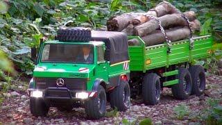 getlinkyoutube.com-Tamiya CC-01 Unimog 425 on a Transport Mission with Trailer