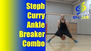 getlinkyoutube.com-Steph Curry Ankle Breaker Combo - Basketball Moves To Break Ankles Tutorial - How To & Drill