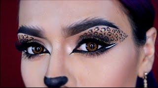 getlinkyoutube.com-Leopardo Maquillaje Gatita Sexy Cat Eyes Halloween | LoLo Love