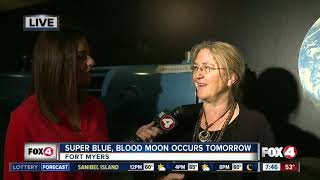 Rare 'super blue blood moon' will light the sky Wednesday morning - 7:30am live report