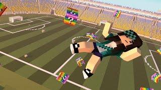 Minecraft - FUTEBOL JOGOS VORAZES - LUCKY BLOCK MOD - MINI-GAME COM MODS