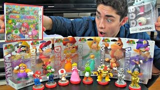 getlinkyoutube.com-Unboxing ALL 7 New Super Mario Amiibo & Mario Party Star Rush!