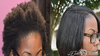 getlinkyoutube.com-How to blend NATURAL hair with weave |Naked Assuage Smoothing Treatment on leaveout