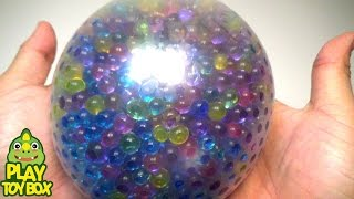 getlinkyoutube.com-StressBall Orbeez Slide Balloon Play Doh Pokemon Kinder Joy Surprise Eggs Learn Colors