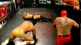 getlinkyoutube.com-The Miz vs Alberto Del Rio vs Rey Mysterio #1 Contender's Match for Over The Limit:WWE CHAMPIONSHIP