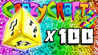 getlinkyoutube.com-Minecraft Crazy Craft 3: 100 Lucky Block Opening! #49