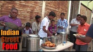 indian street food breakfast - idli dosa vada & chhole bhature - street food india mumbai 2016 video