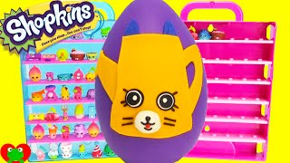 getlinkyoutube.com-Shopkins Limited Edition Hunt Petkin Drips Play Doh Surprise Egg Toy Genie