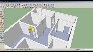 getlinkyoutube.com-Sketchup modeling a floor plan pt.1 | التصميم الداخلي سكتش اب