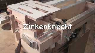 getlinkyoutube.com-Der Zinkenknecht, selbst gebautes Zinkenfräsgerät, a home made dovetail jig