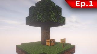 getlinkyoutube.com-Tackle⁴⁸²⁶ Skyblock #1 - เมื่ออยู่บนเกาะร้างกับวัว