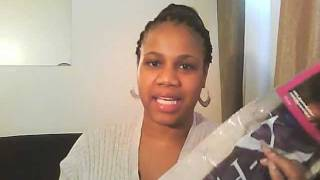 getlinkyoutube.com-Straight hair crochet braids with X-pression Synthetic Hair