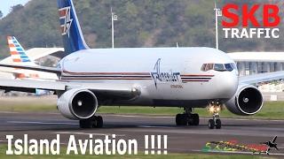 getlinkyoutube.com-Island Aviation !!! Amerijet 767-300F, American 737, Liat ATR 72-600....@ St. Kitts Airport