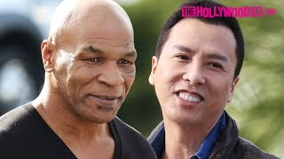 """getlinkyoutube.com-Mike Tyson & Donnie Yen Promote """"Ip Man 3"""" At Hollywood TV Appearance 1.21.16"""
