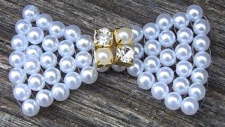 getlinkyoutube.com-Como fazer um laço em Perolas FACIL -Lace pearls