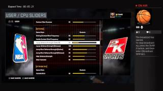 getlinkyoutube.com-Da_Czar's NBA2K16 Sliders JumpShot and Layup Defensive Strength