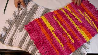 getlinkyoutube.com-TAPETE DE CROCHÊ FÁCIL - EASY CROCHET CARPET - Ganchillo Fácil ALFOMBRA