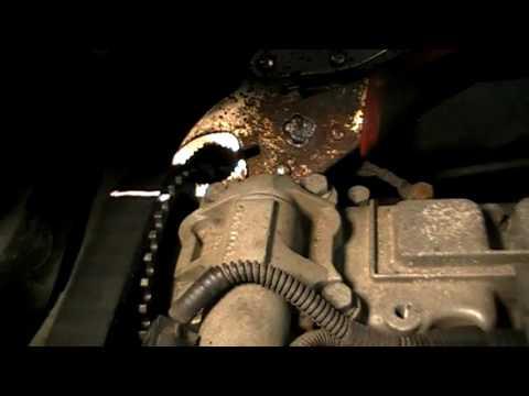 Вольво XC90 замена переднего сальника коленвала/Volvo XC90 Replacing crankshaft front oil seal