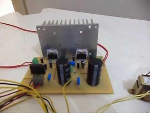 Amplificador caseiro com TDA7294