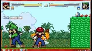 getlinkyoutube.com-Mugen Mario and Tails vs Luigi and Sonic