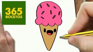getlinkyoutube.com-COMO DIBUJAR UN HELADO KAWAII PASO A PASO - Dibujos kawaii faciles - How to draw a ice cream cone