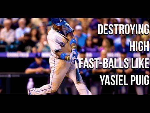 yasiel puig swing analysis power bat speed