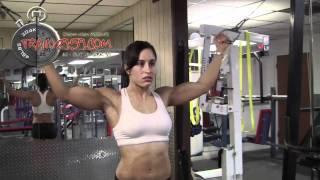 getlinkyoutube.com-Trish Malagrino Arm Workout - www.Train2959.com * 2959 * female muscle six pack