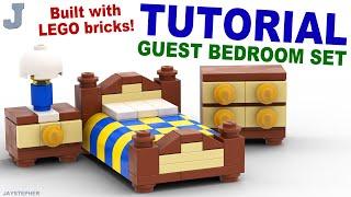 getlinkyoutube.com-Tutorial - Lego Guest Bedroom Set [CC]