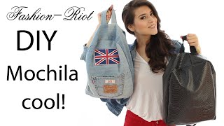 getlinkyoutube.com-DIY Mochila de Jeans | Fashion Riot