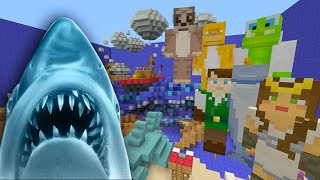 getlinkyoutube.com-Minecraft xbox - Hide And Seek - Jaws Shark