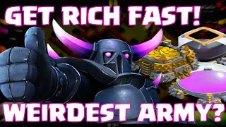 getlinkyoutube.com-Clash Of Clans How To Get Rich Quick / Fast Loot | WEIRDEST ATTACK STRATEGY | BEST FARMING ARMY (?)