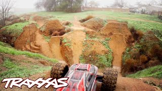 Aerial R/C Assault Part 2 - Traxxas E-Revo Dirt Jumping Session